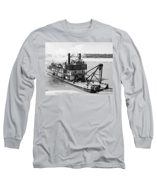Mississippi River Snag Boat Long Sleeve T-Shirt by Granger