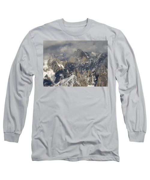 Mist And Light At Aiguille Du Midi Long Sleeve T-Shirt