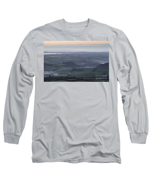 Misty Morning On Exmoor  Long Sleeve T-Shirt