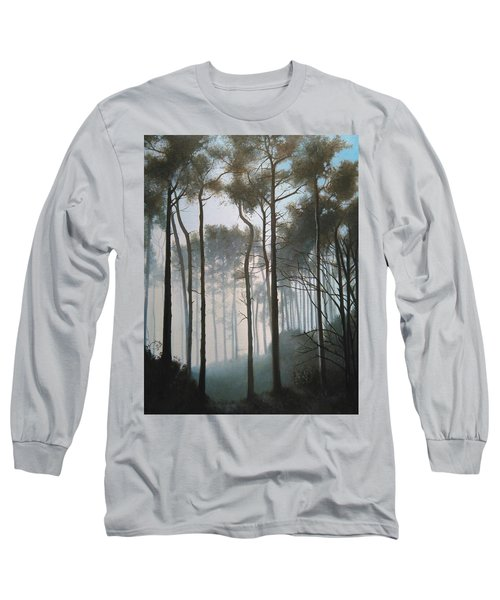 Misty Morning Walk Long Sleeve T-Shirt