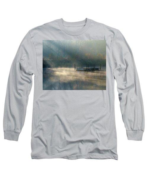 Misty Sunrise Long Sleeve T-Shirt by George Randy Bass