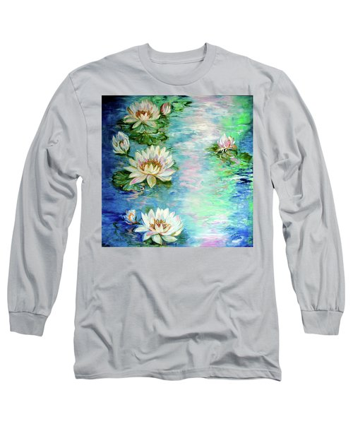 Misty Waters Waterlily Pond Long Sleeve T-Shirt
