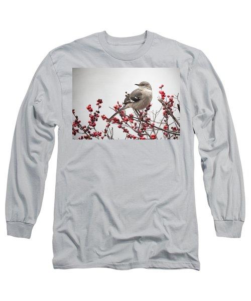 Mockingbird And Berries Long Sleeve T-Shirt