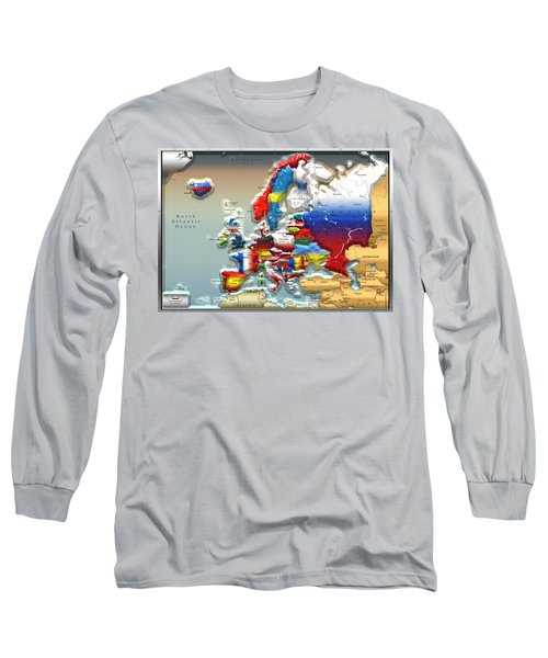 Modern Portrait Of Modern Europe - 3d Long Sleeve T-Shirt