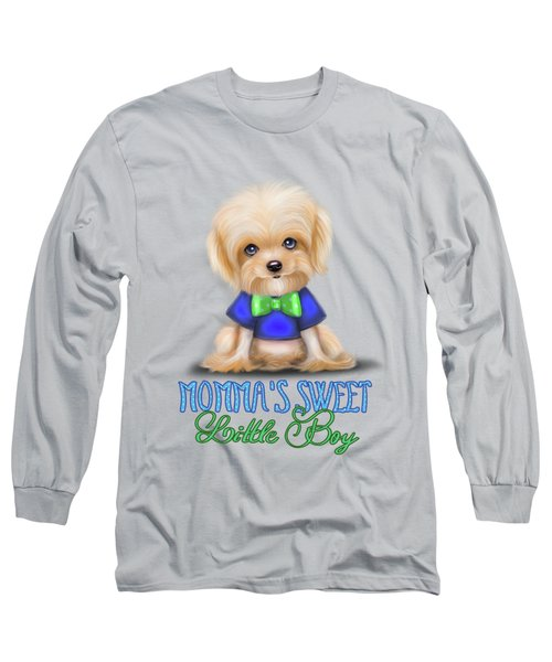 Mommas Sweet Little Boy Long Sleeve T-Shirt