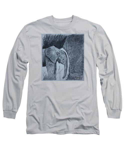 Moms Shadow Long Sleeve T-Shirt by David Joyner