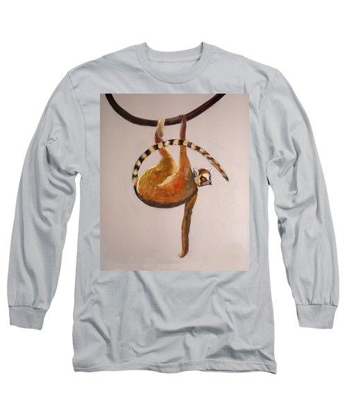 Monkey Detail 1 From Mural Long Sleeve T-Shirt