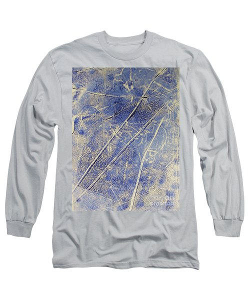 Long Sleeve T-Shirt featuring the drawing Mono Print 007 -   Panda Ate All The Bamboo Leaves by Mudiama Kammoh