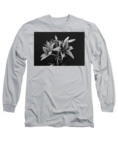 Long Sleeve T-Shirt featuring the photograph Monochrome Grace by Dorin Adrian Berbier