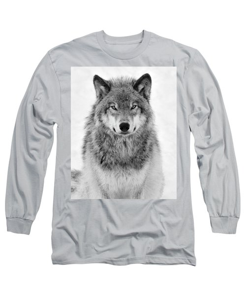 Monotone Timber Wolf  Long Sleeve T-Shirt