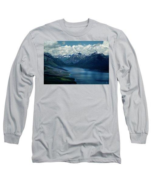 Montana Mountain Vista And Lake Long Sleeve T-Shirt