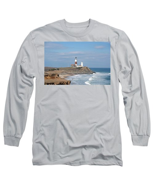 Montauk Lighthouse View From Camp Hero Long Sleeve T-Shirt