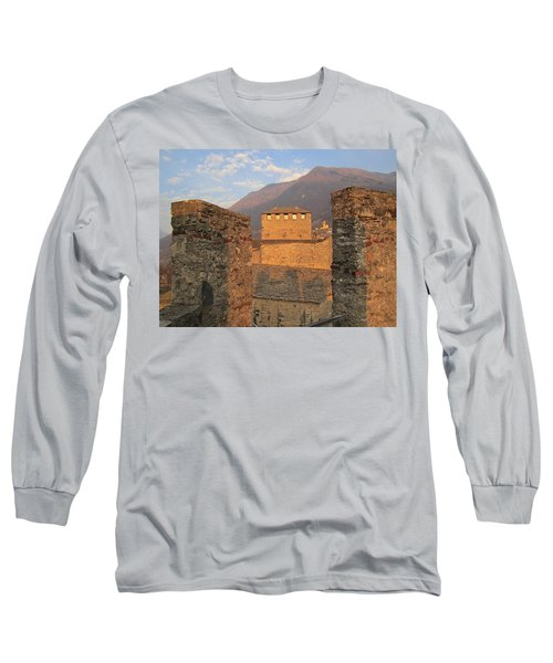 Long Sleeve T-Shirt featuring the photograph Montebello - Bellinzona, Switzerland by Travel Pics