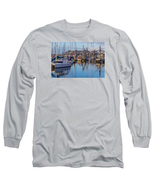 Monterey Marina Afternoon Long Sleeve T-Shirt by Derek Dean