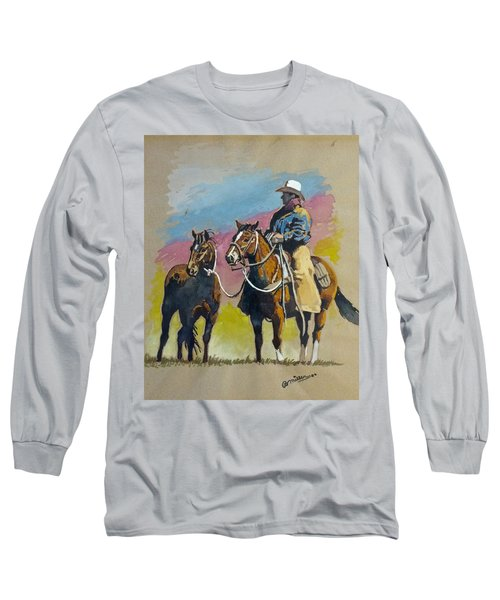 Monty Roberts Long Sleeve T-Shirt by Bern Miller