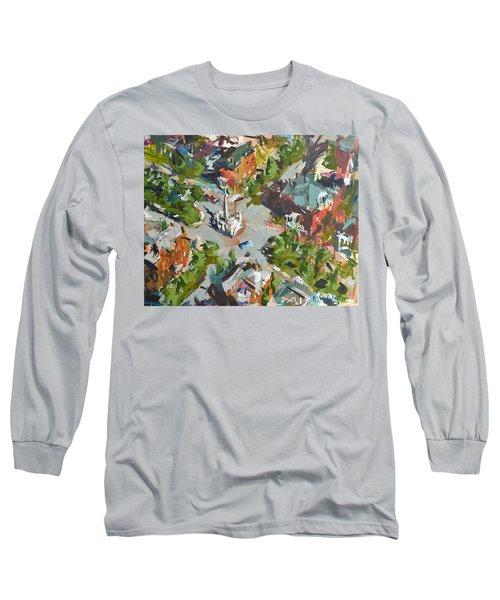 Monument Avenue In Richmond Virginia Long Sleeve T-Shirt