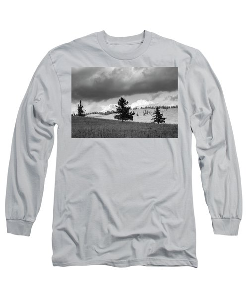 Long Sleeve T-Shirt featuring the photograph Moody Meadow, Tsenkher, 2016 by Hitendra SINKAR