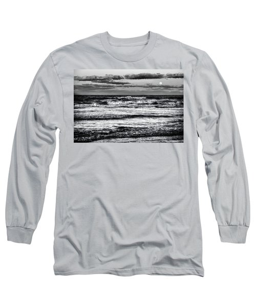 Long Sleeve T-Shirt featuring the photograph Moon Rising  by Louis Ferreira
