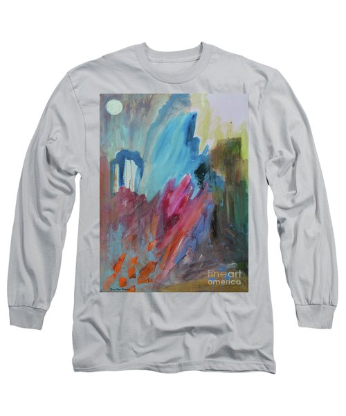Long Sleeve T-Shirt featuring the painting Moonchaser by Robin Maria Pedrero