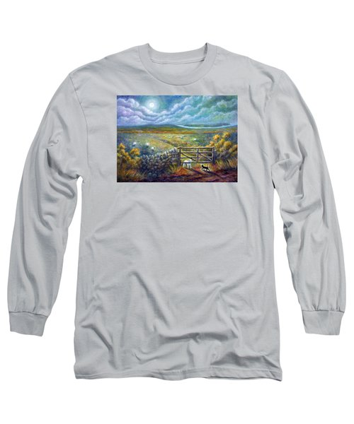 Moonlight Rendezvous Long Sleeve T-Shirt by Retta Stephenson
