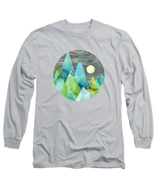Moonlit Mountains Long Sleeve T-Shirt