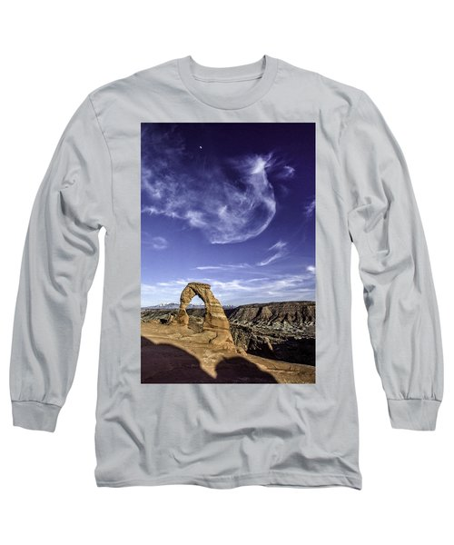 Moonset Delicate Arch Long Sleeve T-Shirt