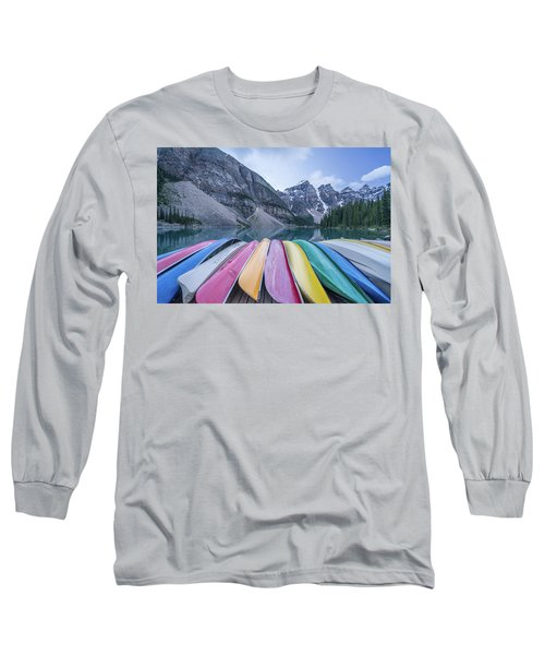 Moraine Lake Colors Long Sleeve T-Shirt