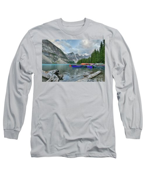 Moraine Logs And Canoes Long Sleeve T-Shirt