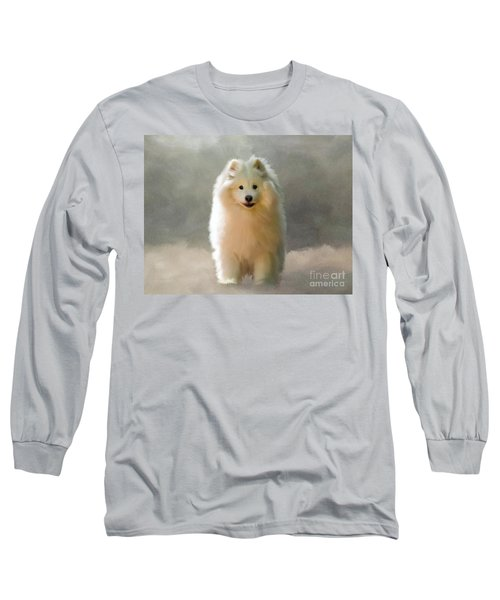 Long Sleeve T-Shirt featuring the digital art More Snow Please by Lois Bryan