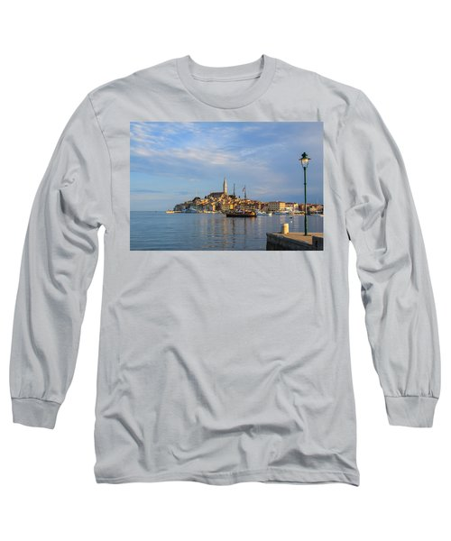 Long Sleeve T-Shirt featuring the photograph Morning Aquarelle In Rovinj by Davorin Mance