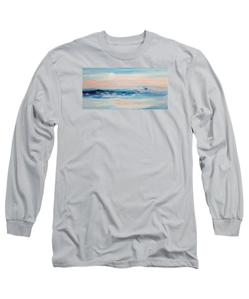 Morning Full Moon Long Sleeve T-Shirt