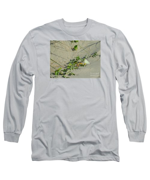 Morning Glory At The Beach Long Sleeve T-Shirt by Mim White