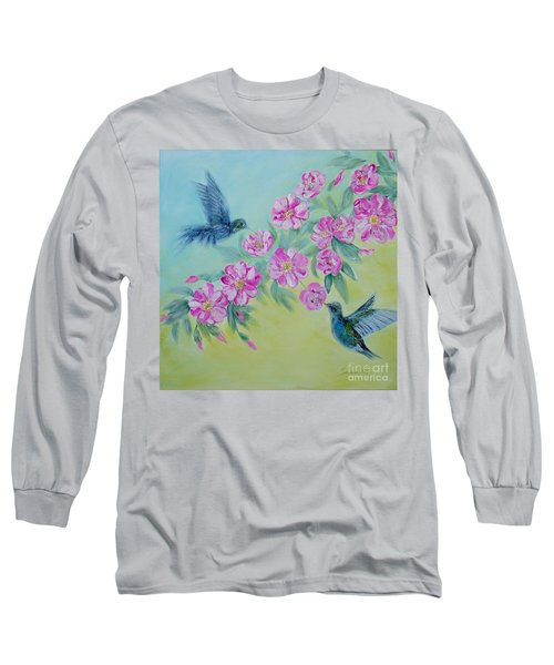 Morning In My Garden. Special Collection For Your Home Long Sleeve T-Shirt by Oksana Semenchenko