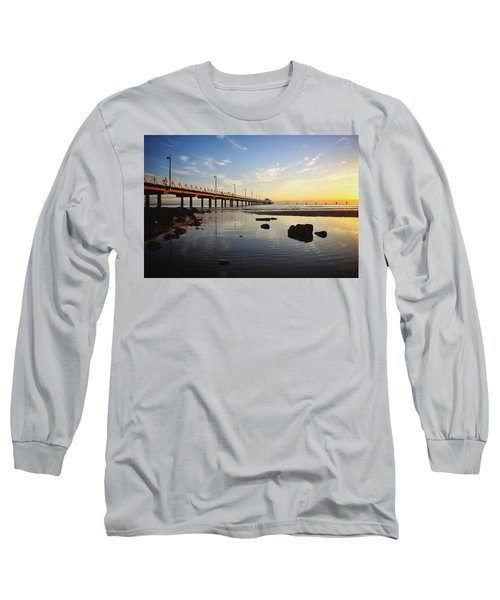 Morning Light Down By The Pier Long Sleeve T-Shirt