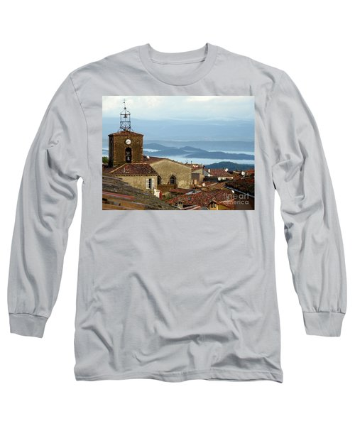 Long Sleeve T-Shirt featuring the photograph Morning Mist In Provence by Lainie Wrightson