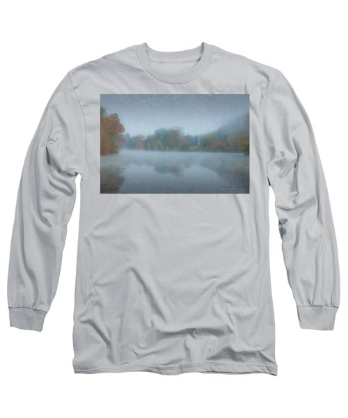 Morning Mist On Langwater Pond Long Sleeve T-Shirt