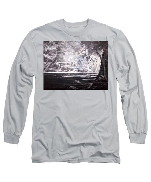 Morning Mist -theresa Falls Long Sleeve T-Shirt
