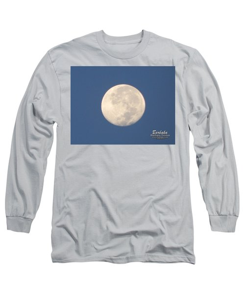 Morning Moon Long Sleeve T-Shirt by Barbara Tristan