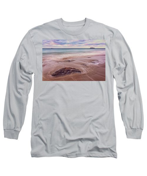 Long Sleeve T-Shirt featuring the photograph Morning Pastels Singing Beach Ma by Michael Hubley