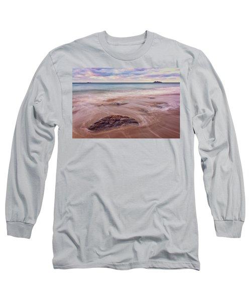 Morning Pastels Singing Beach Ma Long Sleeve T-Shirt