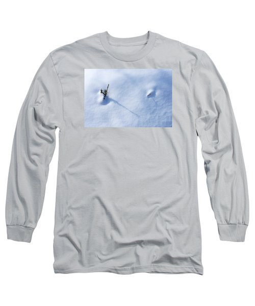 Morning Shadows On The Snow Long Sleeve T-Shirt by Monte Stevens