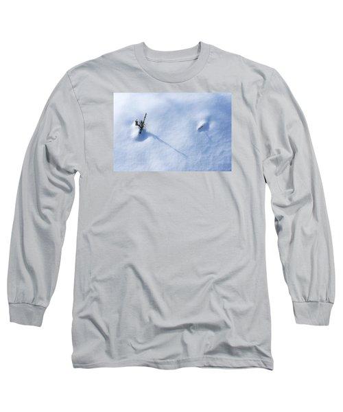 Morning Shadows On The Snow Long Sleeve T-Shirt