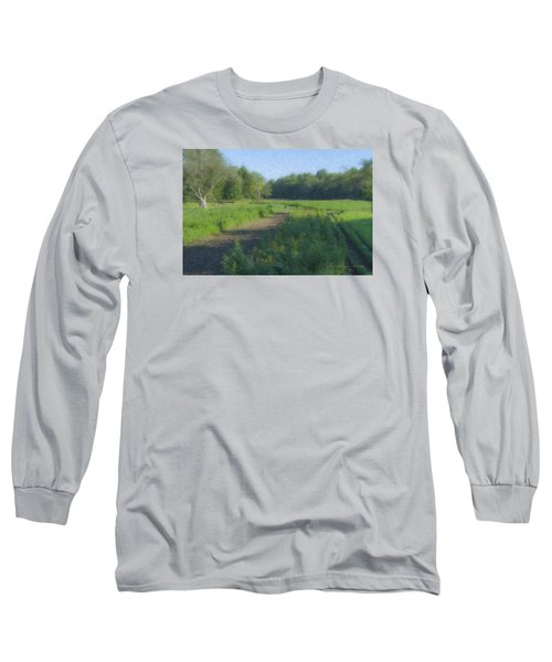 Morning Walk At Langwater Farm Long Sleeve T-Shirt