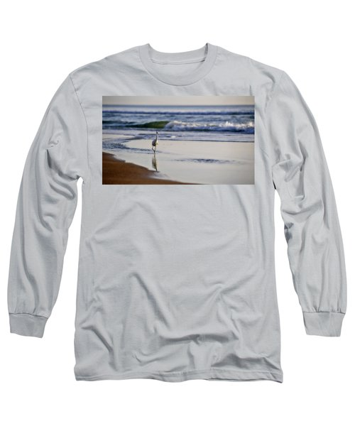 Morning Walk At Ormond Beach Long Sleeve T-Shirt