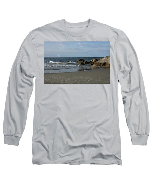 Long Sleeve T-Shirt featuring the photograph Morris Lighthouse by Sandy Keeton
