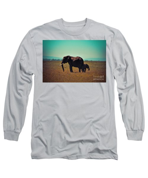 Long Sleeve T-Shirt featuring the photograph Mother And Child by Karen Lewis