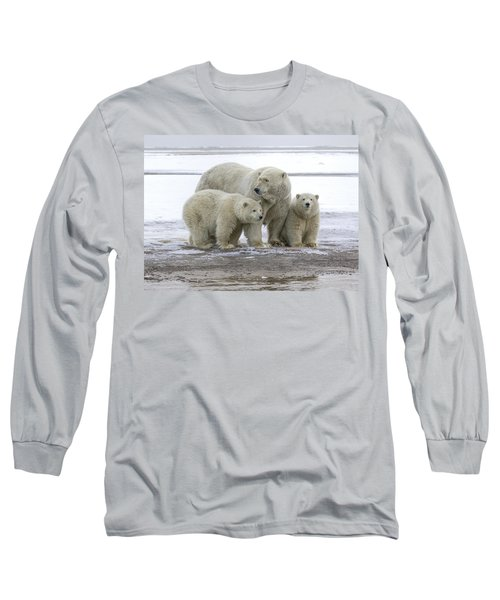 Mother And Cubs In The Arctic Long Sleeve T-Shirt