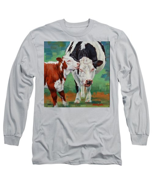 Long Sleeve T-Shirt featuring the painting Mother And Son by Margaret Stockdale