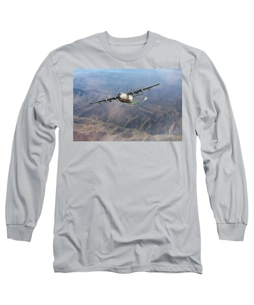 Long Sleeve T-Shirt featuring the digital art Mother Do You Think They Will Drop The Bomb by Peter Chilelli