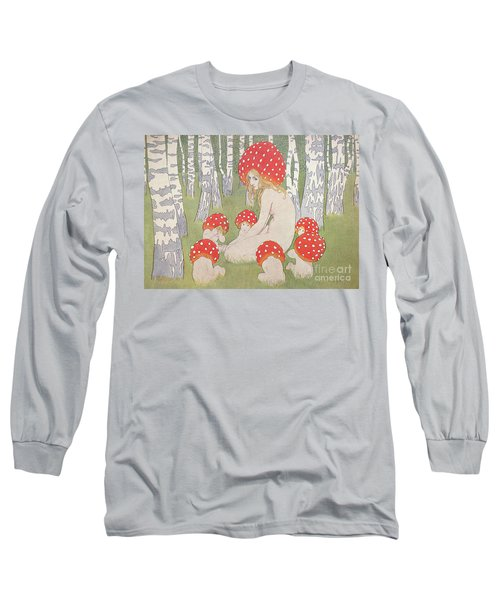 Mother Mushroom With Her Children Long Sleeve T-Shirt